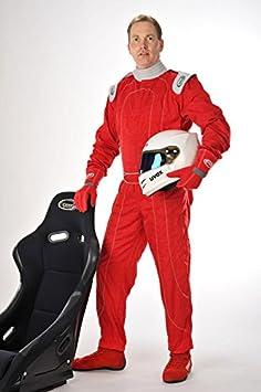 XL Tuta Stile Formula 1 Karting Suit Tuta da corsa Rosso Grigo Speed Racewear