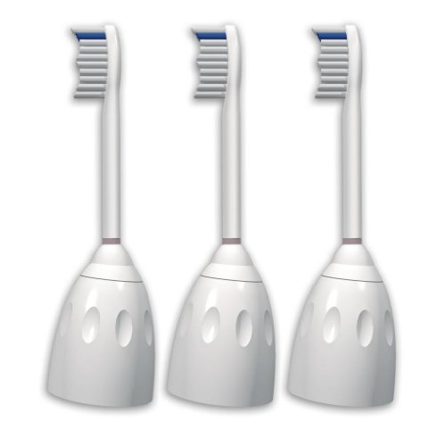 (Philips Sonicare HX7003/82 e-Series Replacement Brush Heads, 3-Pack)