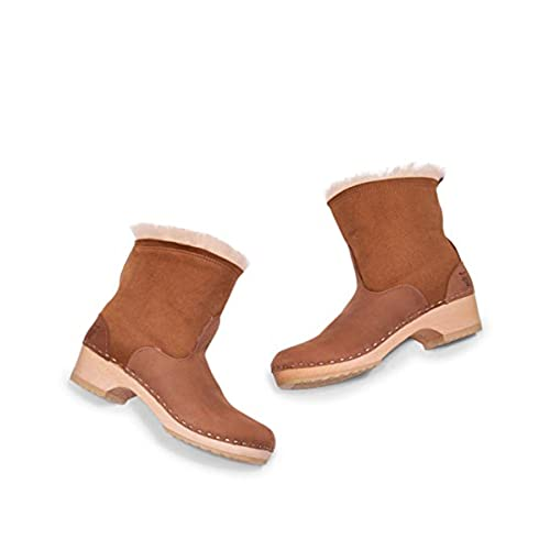 775744f30044 Sandgrens Swedish Low Heel Wooden Clog Boots For Women