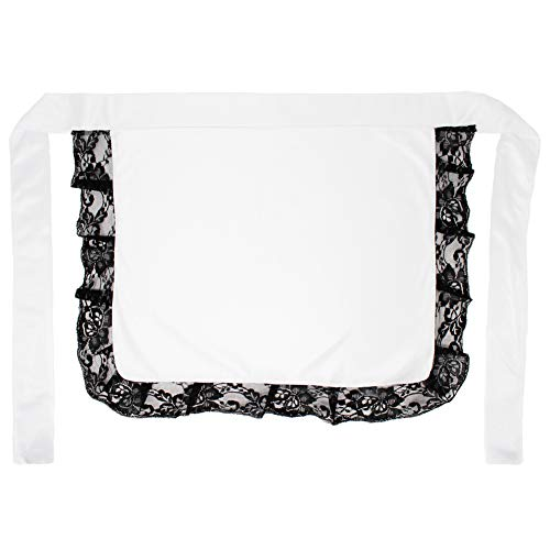 Adult/Teen White Nurse or Maid Apron with Black