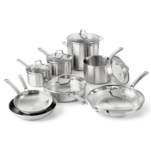 cookware set with straining lids - 5