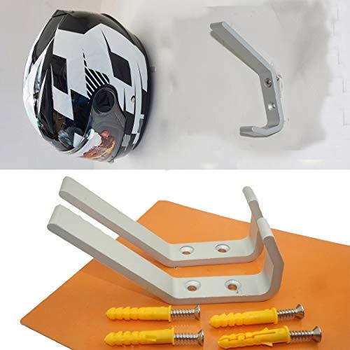 Pack of 2Motorcycle Helmet Holder, Jacket Hanger, Motorbike Wall Mount Display Rack HoookWall Mounted Equestrian Helmet Storage RackSTAINLESS STEELwith mounting screwsno Helmet