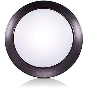 Warm White, 3000K, Bronze Finish, Ultra-Thin, Round LED Light for Home, Hotel, Office