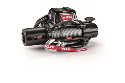 "WARN 96810 VR10 Electric 12V Winch with Steel Cable Wire Rope: 3/8"" Diameter x 94' Length, 5 Ton (10,000 lb) Lifting/Pulling Capacity"
