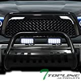 2011 toyota tundra grill guard - Topline Autopart Black Bull Bar Brush Push Bumper Grill Grille Guard With Skid Plate + 36W Cree LED Fog Lights For 07-18 Toyota Tundra ; 08-17 Sequoia
