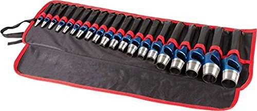 Rennsteig 9-Piece Arch Punch/Wad Punch Set in roll-up pouch by Rennsteig