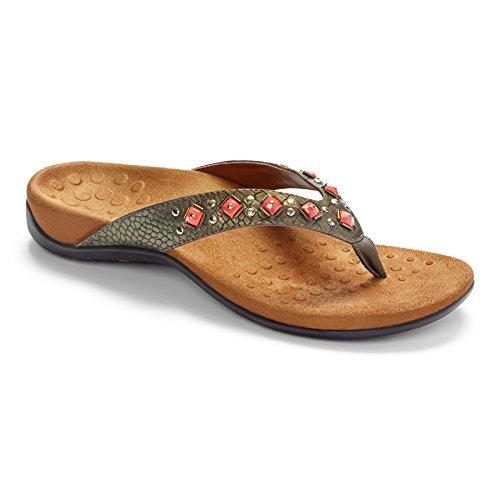 Bronze Plateforme Croc Sandales Femme Vionic v4Ow5
