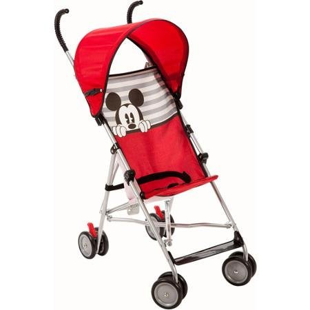 Disney Umbrella Stroller with Canopy (All About Mickey) Stroller is Designed for a Child Up to 40 lbs 3- Point Harness by Disney