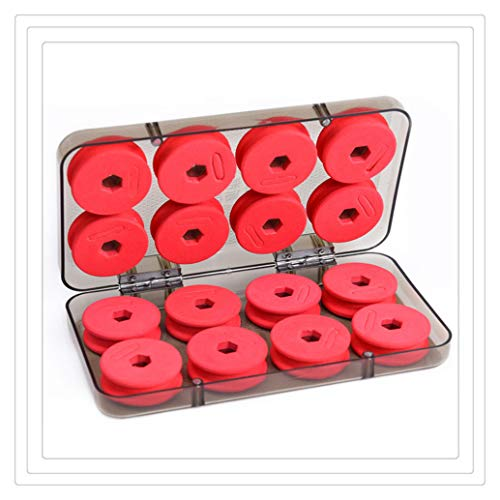 (16pcs Foam Winding Board, Fishing Line Shaft Bobbin Spools Tackle Box Fishing Tackle Boxes Case (Multicolor) )