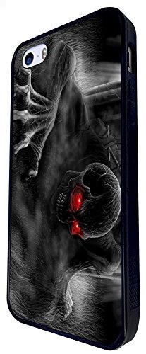 1103 - Cool Fun Scary Art Zombie Skeleton Zombies Ghost Design iphone SE - 2016 Coque Fashion Trend Case Coque Protection Cover plastique et métal - Noir