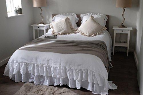 Details for Ruffled Linen Duvet Cover, Linen Duvet Cover - 100% French Flax Linen, Vintage Style