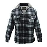 Product review for LeeHanTon Men's Soft Sherpa Lined Fleece Plaid Flannel Jacket With Hood