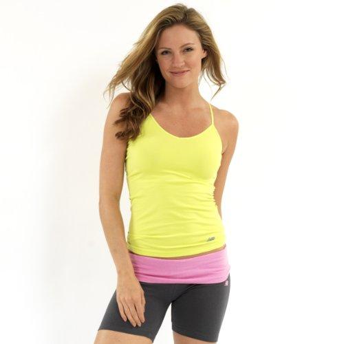 New Balance Womens Performance Camisole Undershirt- Lime - Large Lime