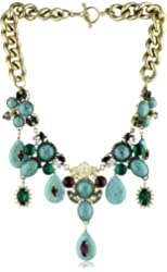 Anton Heunis Anthony and Cleopatra Multi-Cluster Turquoise Necklace