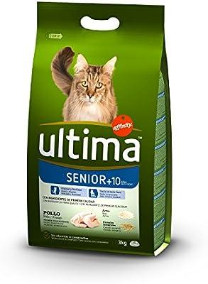 Ultima Pienso para Gatos Senior +10 años con Pollo: Amazon.es ...
