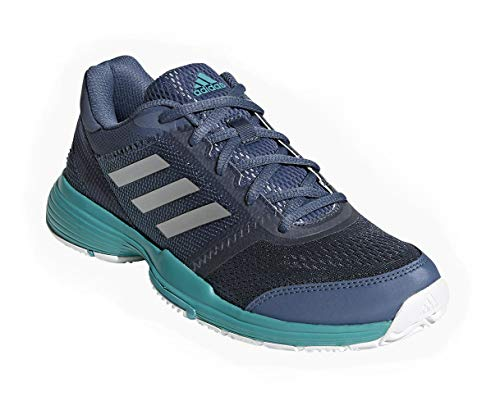 adidas Barricade Club Womens Tennis Shoe (Blue Silver Aqua) (8) e991a3faa