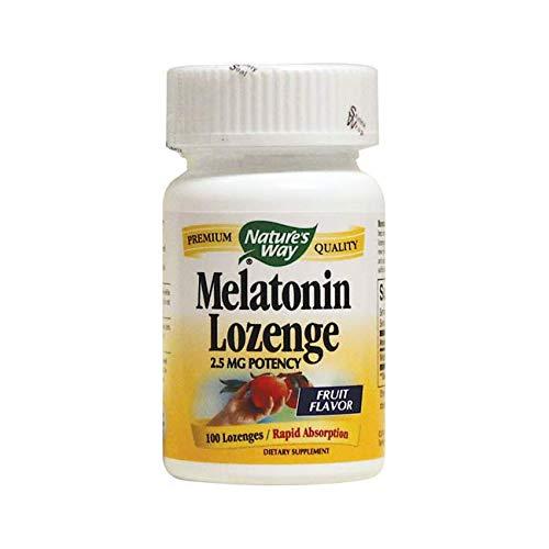 Nature's Way Melatonin Lozenge, 2.5 mg, 100-Count 2.5 Mg 100 Lozenges