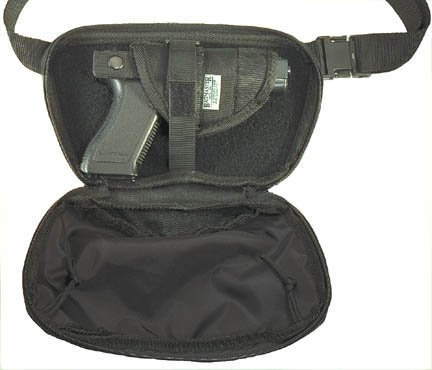 Rip Cord Gun Concealment Fanny Waist Pack with Holster - Black - Bagmaster from Bagmaster