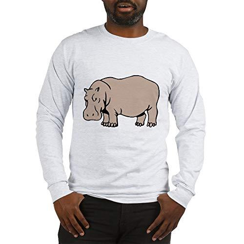 CafePress Hippo Long Sleeve T Shirt Unisex Cotton Long Sleeve T-Shirt Ash Grey