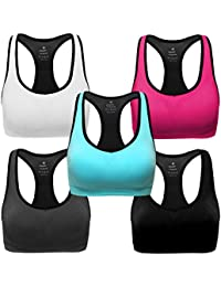 2e16bc1f6bc Women Racerback Sports Bras - High Impact Workout Gym Activewear Bra