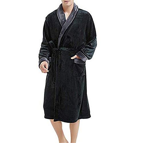 Grigio Peluche Uomo Manica Accappatoio Ytfoplk Accappatoi Uomo l Kimono Caldo Scialle Da Moda Lunga In Casual Abito Camicia 81aBw