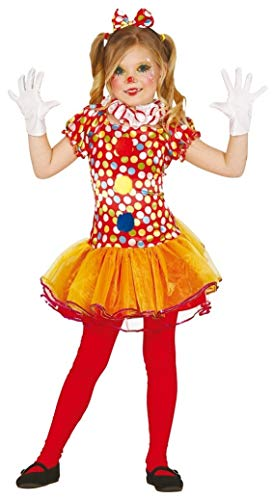 (Girls Red Spotty Circus Clown Halloween Fancy Dress Costume Outfit 3-12 Years (7-9)