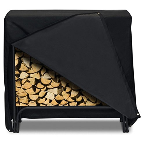Two Dogs Designs Cover (Smart Living 2D-LR48241 Log Rack Cover With Level 4 UV Protection, 48-Inch, Black)