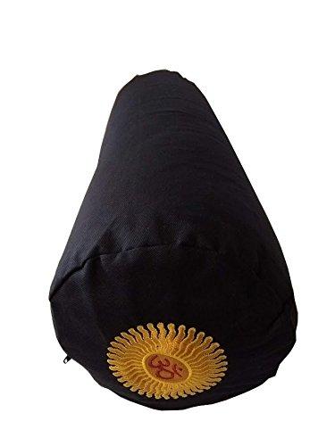 Buckwheat Yoga Bolster, Black Embroidered: Amazon.es ...