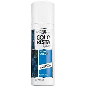 L'Oreal Paris Colorista 1-Day Temporary Hair Color Spray, Blue, 2 Ounces