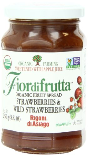 Rigoni Di Asiago Fiordifrutta Organic Fruit Spread, Strawberry, 8.82 Ounce