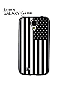 American Flag Black and White Cell Phone Case Samsung Galaxy S4 Mini White