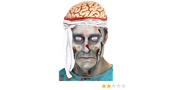 Bandage Brain Zombie Head piece Hat Halloween accessory Dress up Costume