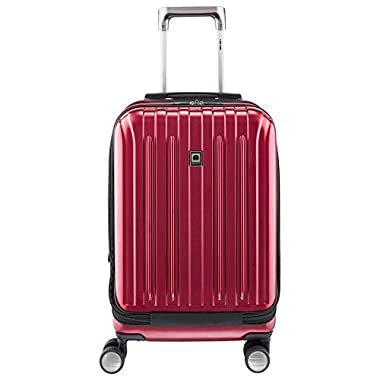 """Delsey Luggage Helium Titanium International 19"""" Carry-on Expandable Spinner Trolley (One size, Red)"""