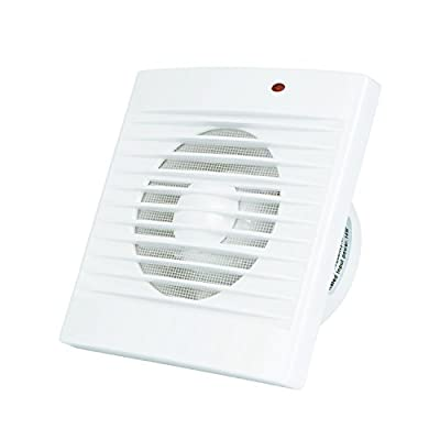 """Hon&Guan 6"""" Home Ventilation Fan Bathroom Garage Exhaust Fan Window and Wall Mount Fan with Louvers for Kitchen Bathroom HVAC System(147CFM)"""