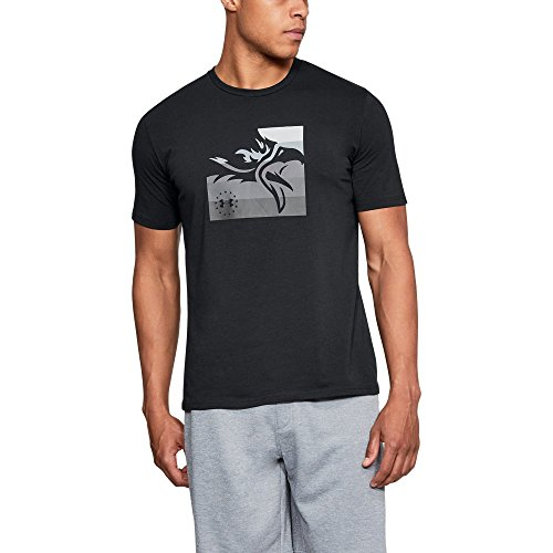 Under Armour Men's Freedom Eagle T-Shirt, Black/Graphite, Medium (Freedom Eagle T-shirt)