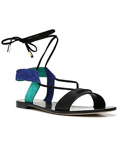 Diane von Furstenberg Women's Estonia Blackmint Calf Leather Sandal