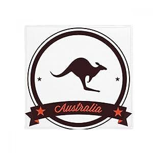 DIYthinker Australia Flavor Kangaroo Emblema ilustración Antideslizante Alfombrilla para Mascota Cuadrada baño Sala de Estar Cocina Puerta 60/50 cm Regalo