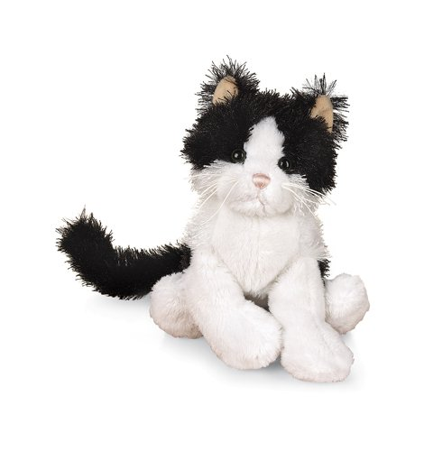 Amazon Com Ganz Lil Kinz Cat 6 5 Plush Black And White Toys Games