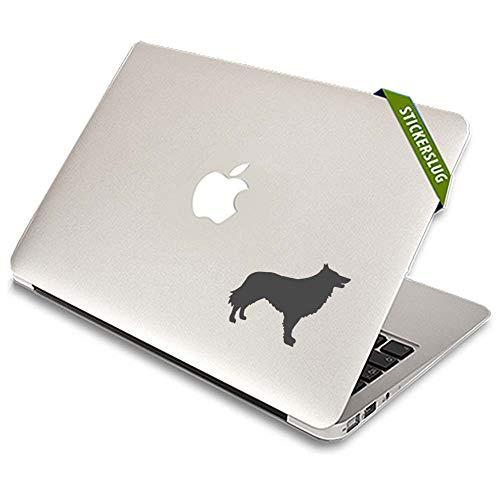 (Belgian Shepherd Dog Decal Sticker (Charcoal, 8 inch Reversed) for Kids Home Walls b11135)