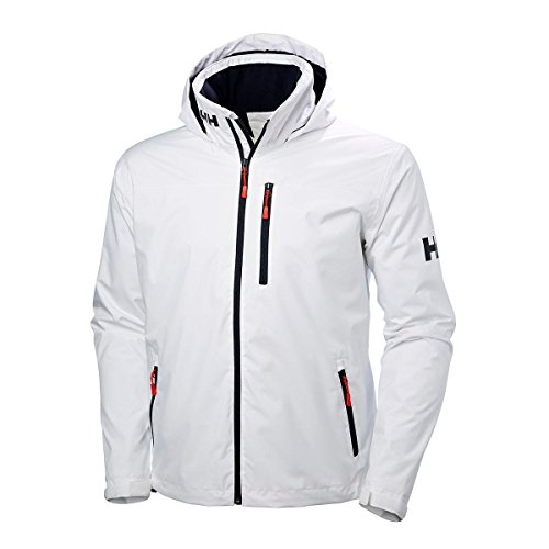 Helly Hansen 33874 Mens Crew Hooded Midlayer Jacket, White - M