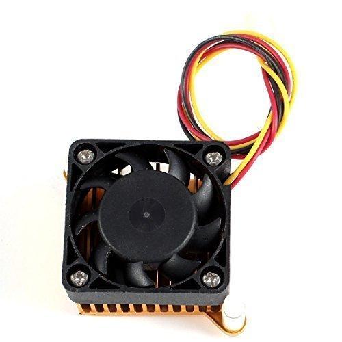 Aluminium Kühlkörper Kühlerlüfter 3Pin 40mm 12VDC für Northbridge Chipsatz Kühl DE