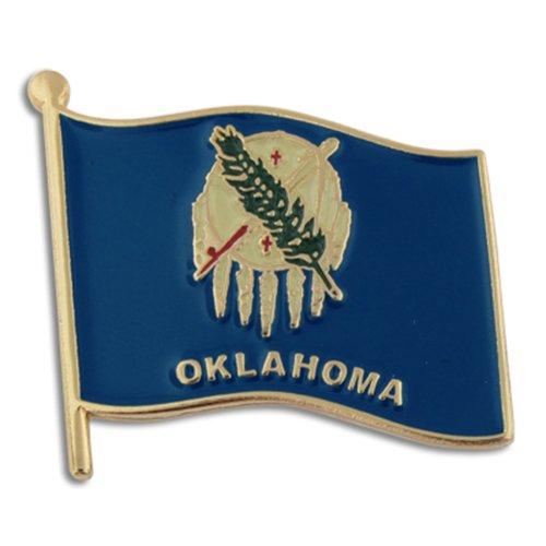 "PinMart's Oklahoma US State Flag OK Enamel Lapel Pin 1"""