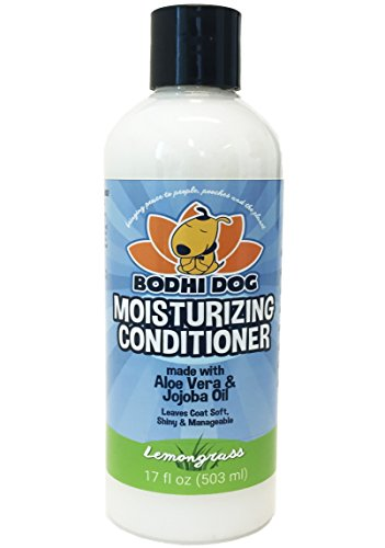 (New Natural Moisturizing Dog Conditioner | Conditioning for Dogs, Cats and More | Soothing Aloe Vera & Jojoba Oil | Professional Grade Treatment - Made in The USA - 1 Bottle 17oz (503ml) (Lemongrass))