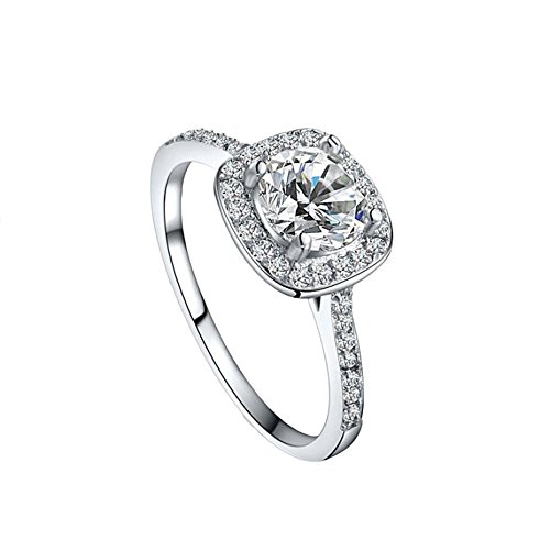 SMALLE ◕‿◕ Clearance,S925 Sterling Silver Diamonds Bride Princess Wedding Engagement Strange Ring
