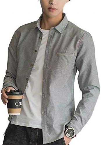 トップス 長袖 シャツ ワイシャツ カジュアル デザイン シンプル スリム メンズ