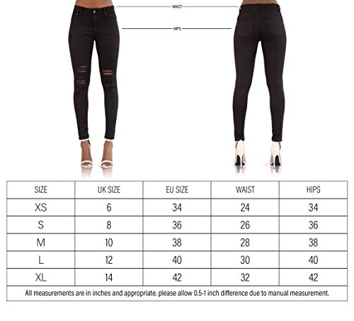 Lustychic Ripped Donna Donna Jeans Black Lustychic Black Jeans qHRZxq41