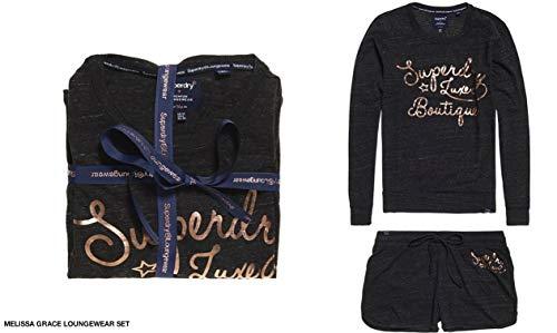 midnight Loungewear Mujer Set Snowy Para Superdry Yh8 Melissa Azul Grace Charcoal Pijama qE84TY