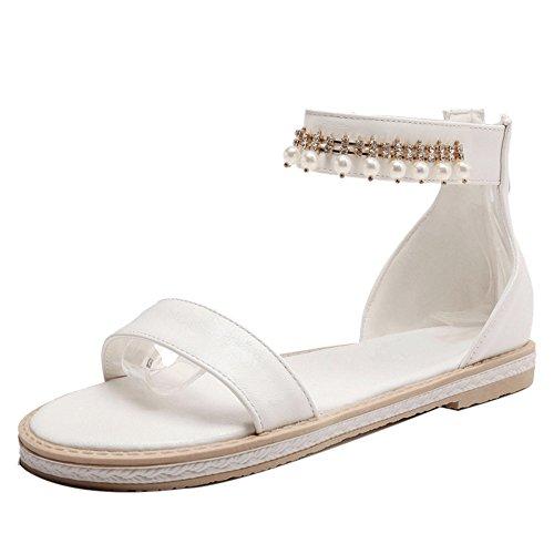 Sandales JOJONUNU White Plates Mode Femmes z0Bx0t