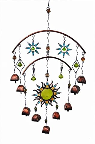 Continental Art Center CAC10486 Sun Ornament with Bell, 35 by 18 by 2-Inch
