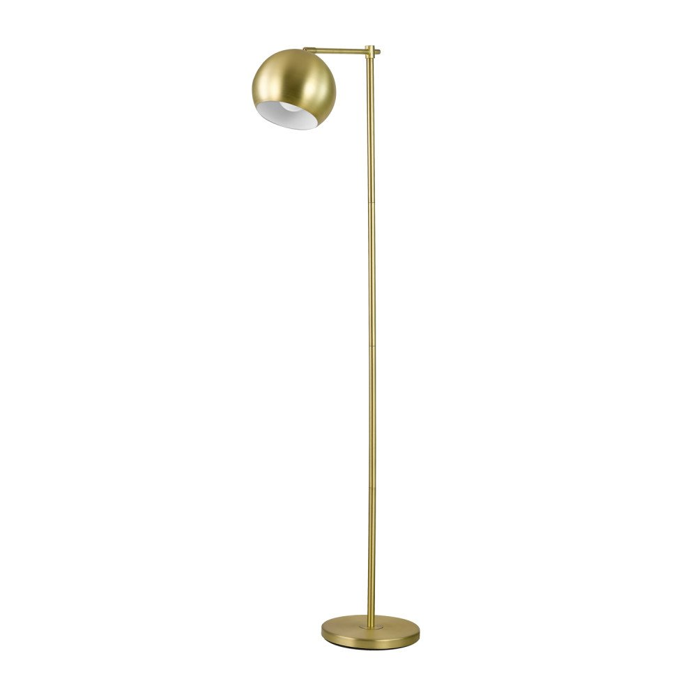"Globe Electric 12915 Molly 60"" Floor Lamp Finish, in-Line on-Off Switch, Gold"